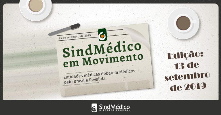 SindMédico em Movimento: 9 a 13 de setembro