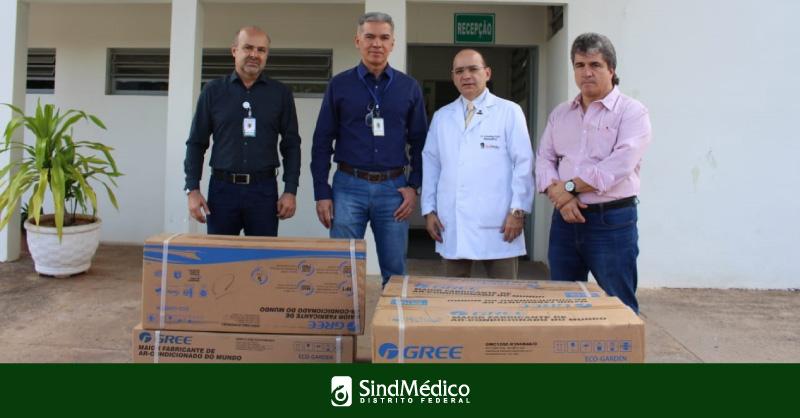 Doação de ar-condicionado para Hospital São Vicente de Paulo